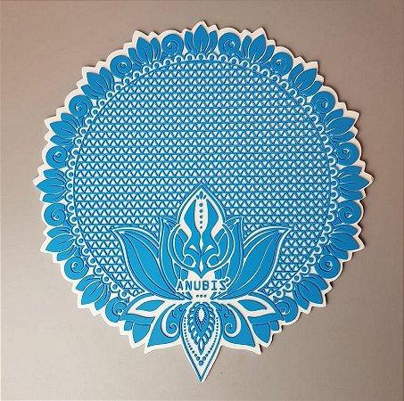 Tapete de Silicone Anubis Azul e Branco
