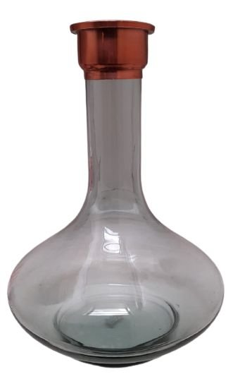 Vaso Nick 30cm Transparente Cobre