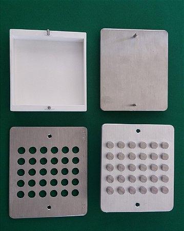 FOROTAB - Forma em aço-inox para confecçao de comprimidos oro-tab