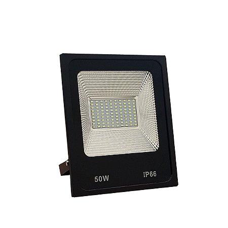REFLETOR MICROLED SMD SLIM 50W VERDE