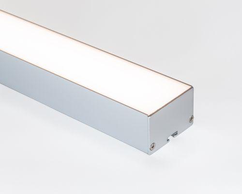 Perfil alumínio de sobrepor / pendente full difusor leitoso para LED