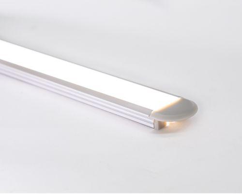 Perfil alumínio de embutir slim difusor leitoso para LED