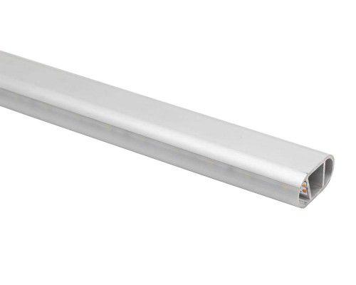 Perfil alumínio oblongo difusor fosco para cabideiro LED