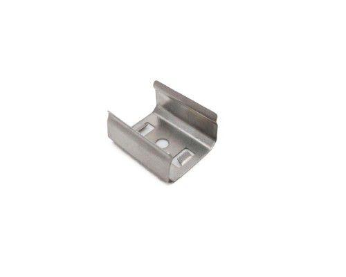 Presilha metálica para perfil alumínio de sobrepor