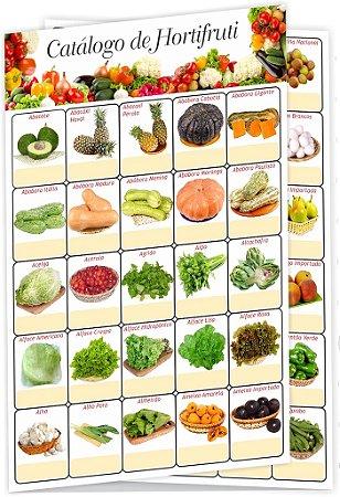 Catálogo de Hortifrúti (10 Unidades) 21 x 29,7 cm