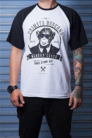 "Camiseta ""Modern"" Preto com Branco"