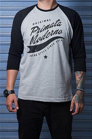 """Camiseta Raglan """"Original"""" Mescla com Preto"""