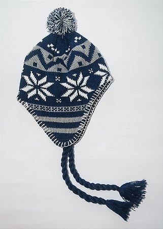 Gorro Peruano Azul Marinho e Cinza - Primata Moderno 3b238af386e