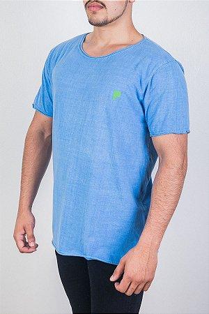 Camiseta Estonada Azul Claro
