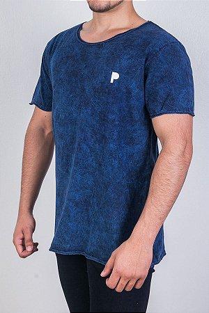 Camiseta Azul Marinho Marmorizada