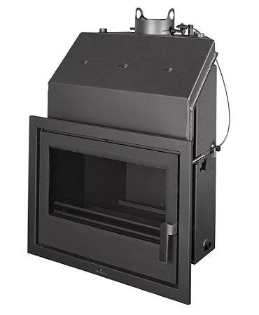 Lareira a lenha hidronica (também aquece água) - Bronpi - modelo 60E