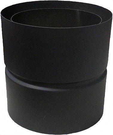 Adaptador Inversor anti-condensação inox 304 antracita / BRONPI / 150mm
