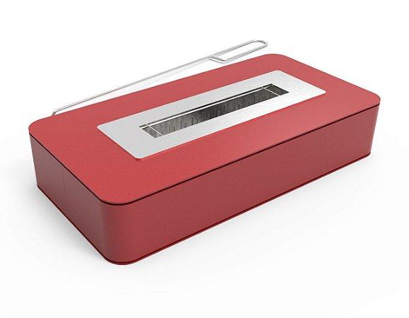 Lareira Mobile vermelho a Álcool - ARTFIRE - Modelo M5