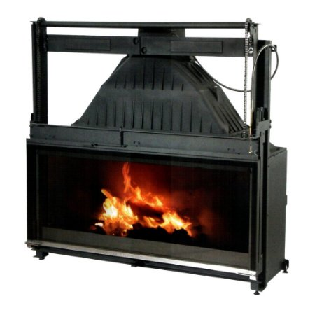 Lareira Recuperador de Calor vidro guilhotina- Philippe - Modelo 1200