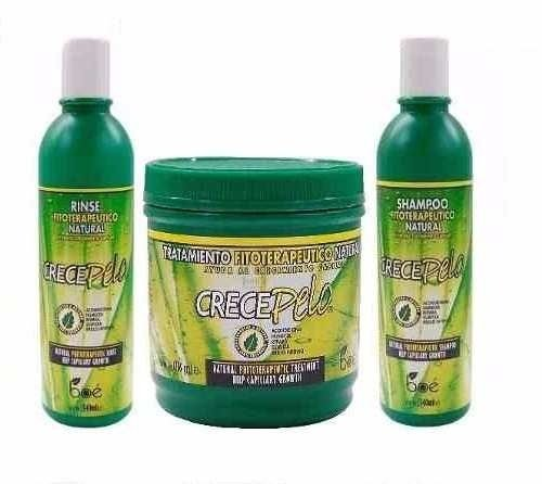 Kit Crece pelo Fitoterápico Boé com Shampoo + Condicionador + Máscara de tratamento intensivo