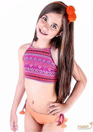 Magah Moda Praia Infantil Biquíni Cropped Camila Chevron - Loja ... 7f58af0b60