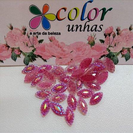 Pcte Navete Ind.rosa glitter 32un