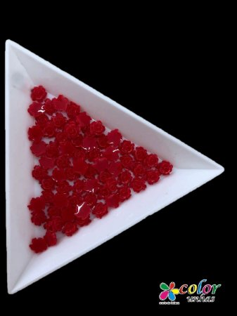 Rosa 3D - Vermelha