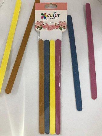 Kit de Lixa Popular Colorida (Cores Variadas)