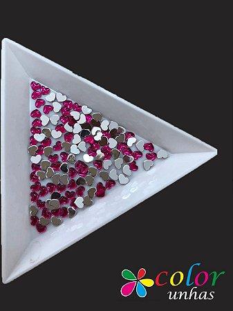 Coração Acrílico 3 MM - Pink