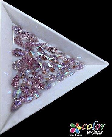 Gota Spike 5,8MM - Glitter Rosa 20 Unidades