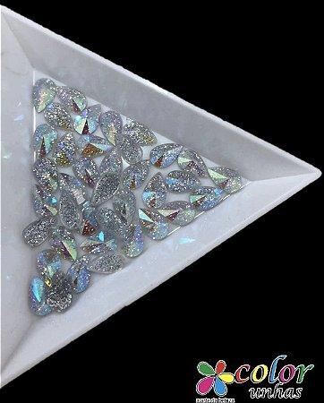 Gota Spike 5,8MM - Glitter Transparente 20 Unidades