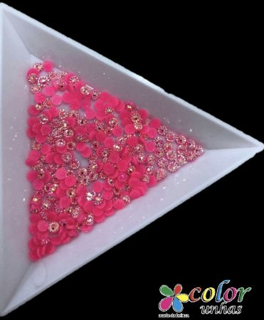 Margarida Rosa Fluorescente 3 MM 150 Unidades