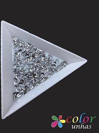 Meia Lua 1,5x3MM - Silver 100 Unidades