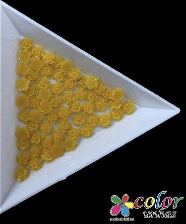 Rosa 3D - Amarela 30 Unidades