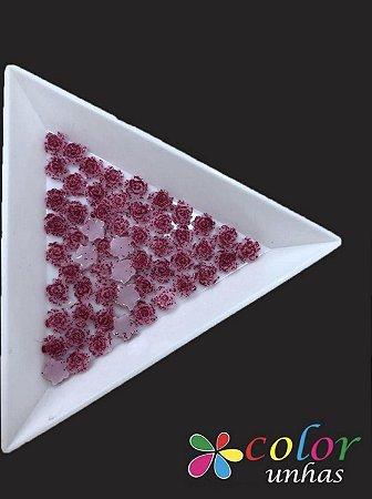 Rosa 3D - Pink Glitter 30 Unidades
