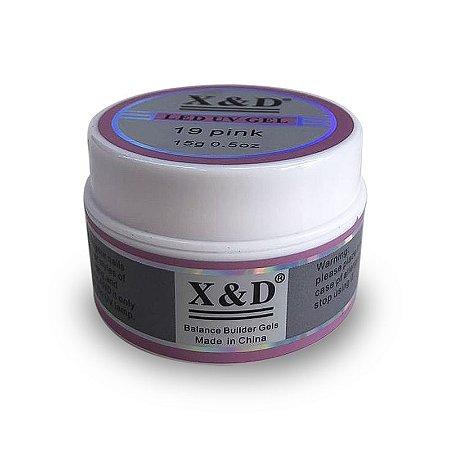 Gel para Unhas Led UV X&D Pink 15g