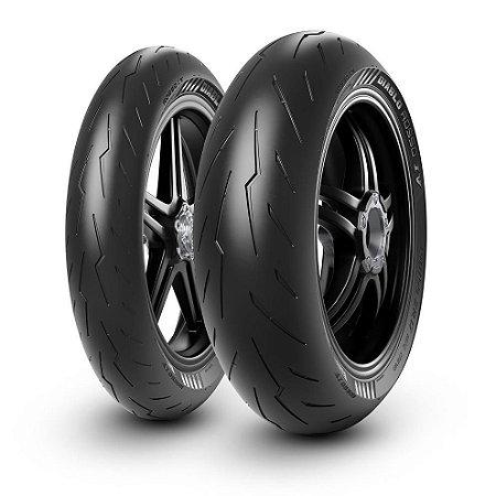 Par Pneus Pirelli Diablo Rosso 4 120/70-17+200/55-17