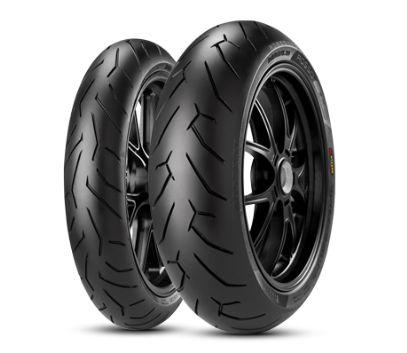Combo/Par Pneus Pirelli Diablo Rosso II 110/70-17 +140/70-17 CB300 Ninja300 R3