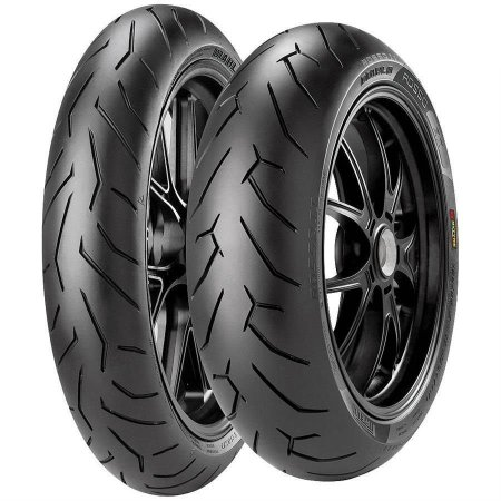 Par Pneus Pirelli Diablo Rosso 2 110/70-17+150/60-17 Ninja 400 KTM Duke