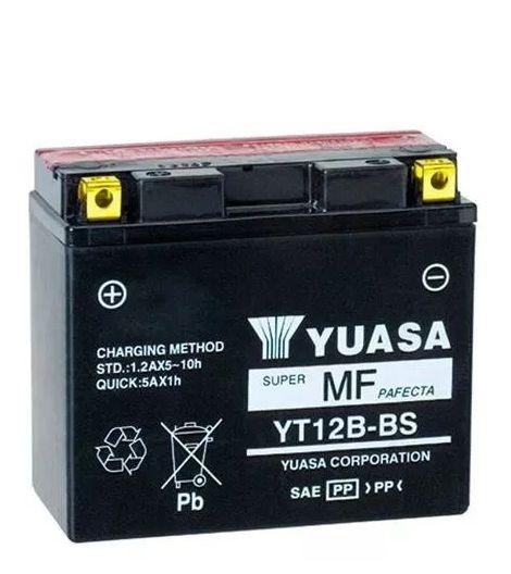 Bateria Yuasa Yt12B-Bs 10Ah Ducati1200 ZX10 XJ6 R1 R6 TDM850