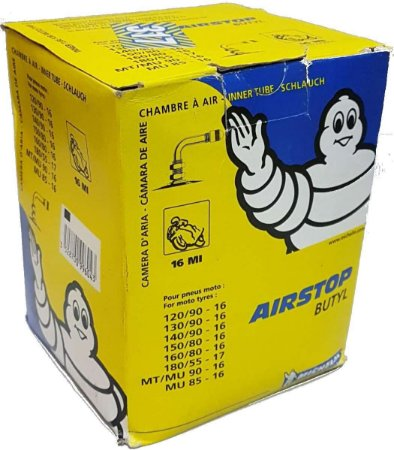 Câmara De Ar Michelin 16MI Aro 16 Valvula Curva