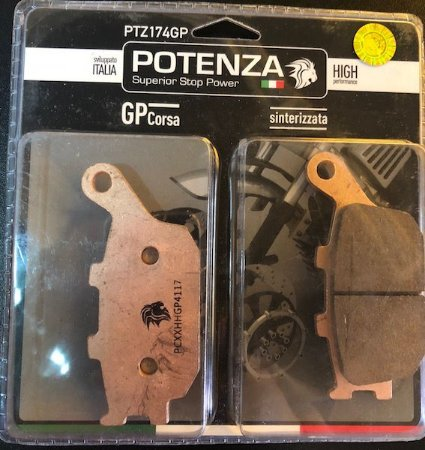 Pastilha de Freio Potenza PTZ174 GP Sinterizada HH