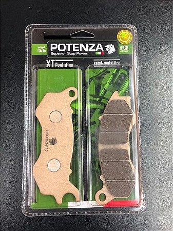 PTZ603XT PASTILHA DE FREIO POTENZA SEMI-METALICA