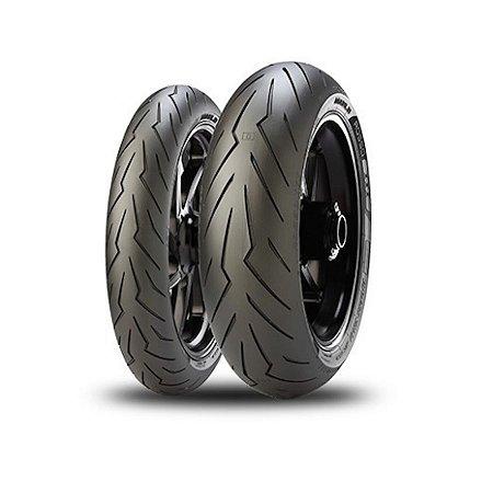 Par Pneus Pirelli Diablo Rosso 3 120/70-17+160/60-17