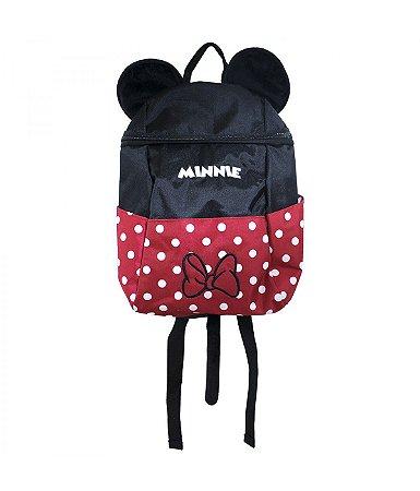 9bf56b9ca Mochila Minnie Vermelha Poá Laço Infantil Escolar - Disney - Corre ...