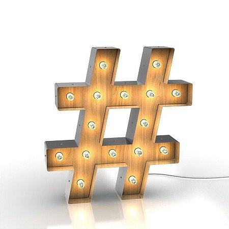 Luminária Retrô - Hashtag