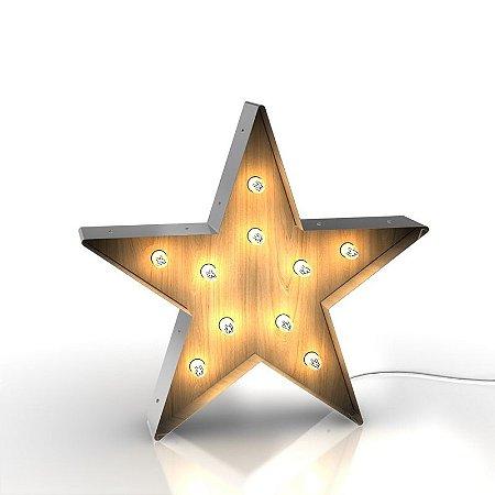 Luminária retrô - Estrela