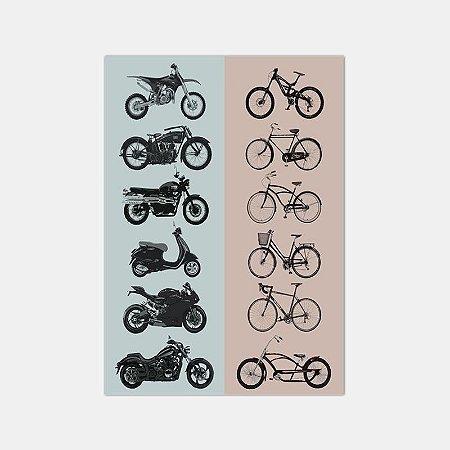 Pôster Moto vs  Bike