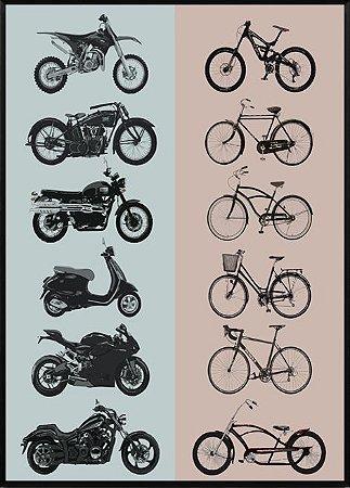 Quadro Moto Vs Bike
