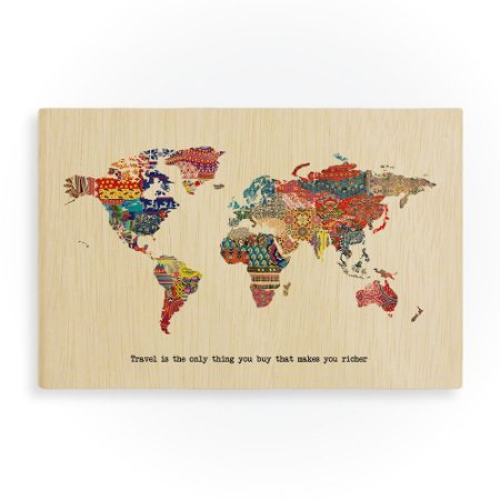 Quadro Fabric World Map