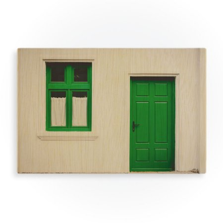 Quadro Green Front Door