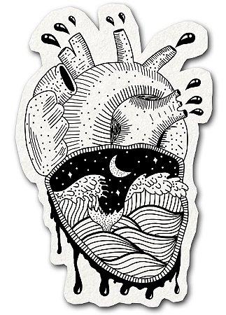Adesivo Coração Agitado