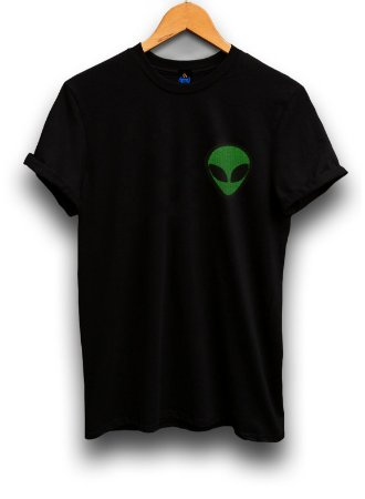 Camiseta Bordada Alienígena