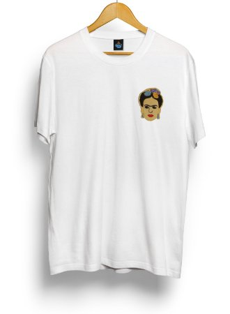 Camiseta Bordada Frida Kahlo
