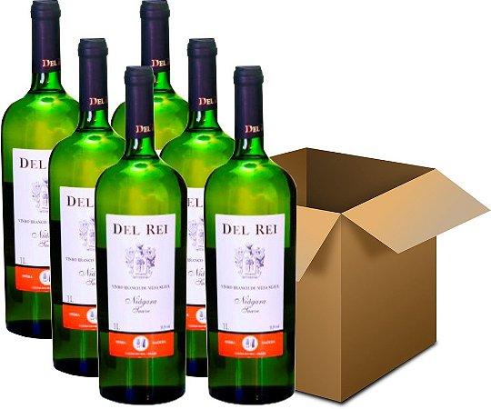 Vinho de Mesa - Del Rei Branco Suave Niágara 6x1L